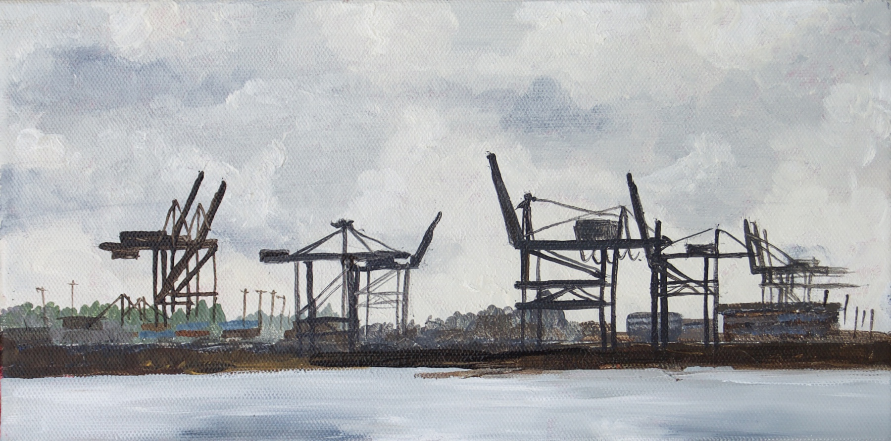 Commencement Bay  Nov, 2016  Acrylic on Canvas