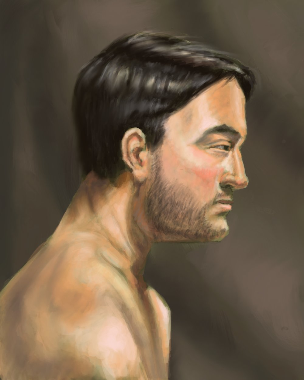 Profile of our model, Matt Digital painting, ProCreate for iPad