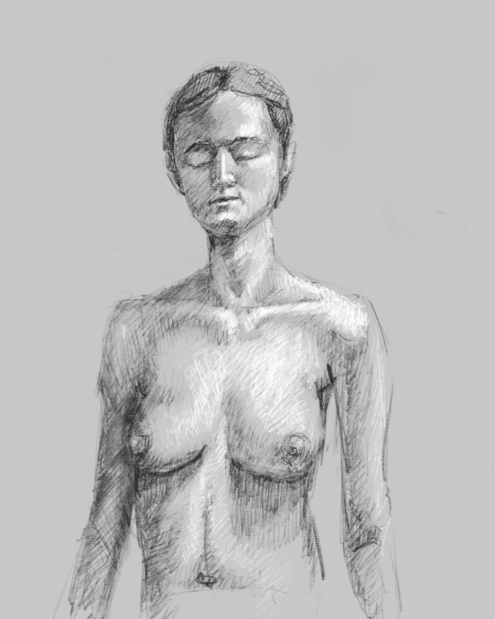 Life drawing in ProCreate using the