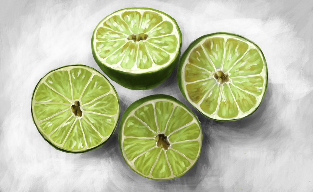 Limes Painted with ProCreate for iPad